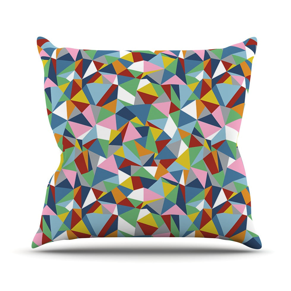 "Project M ""Abstraction"" Rainbow Abstract Outdoor Throw Pillow - KESS InHouse  - 1"