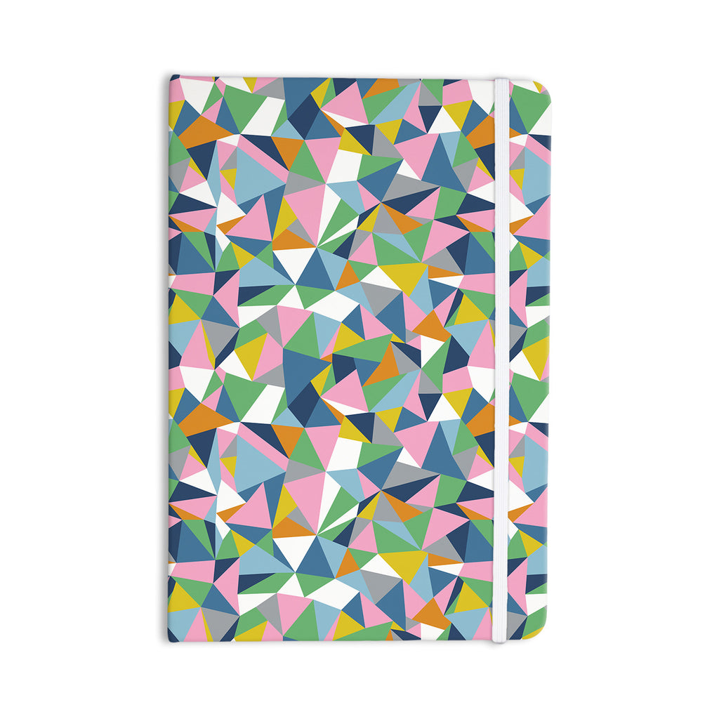 "Project M ""Abstraction Pink"" Rainbow Abstract Everything Notebook - KESS InHouse  - 1"