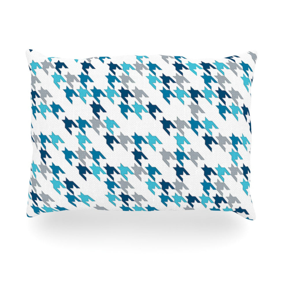 "Project M ""Blue Tooth"" Navy White Oblong Pillow - KESS InHouse"