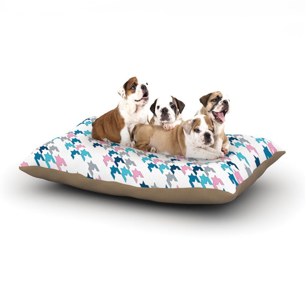 "Project M ""Pink Tooth"" Blush Blue Dog Bed - KESS InHouse  - 1"