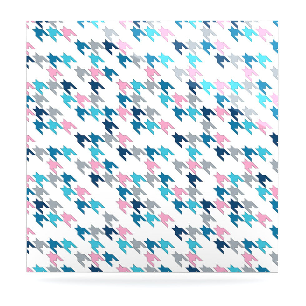 "Project M ""Pink Tooth"" Blush Blue Luxe Square Panel - KESS InHouse  - 1"