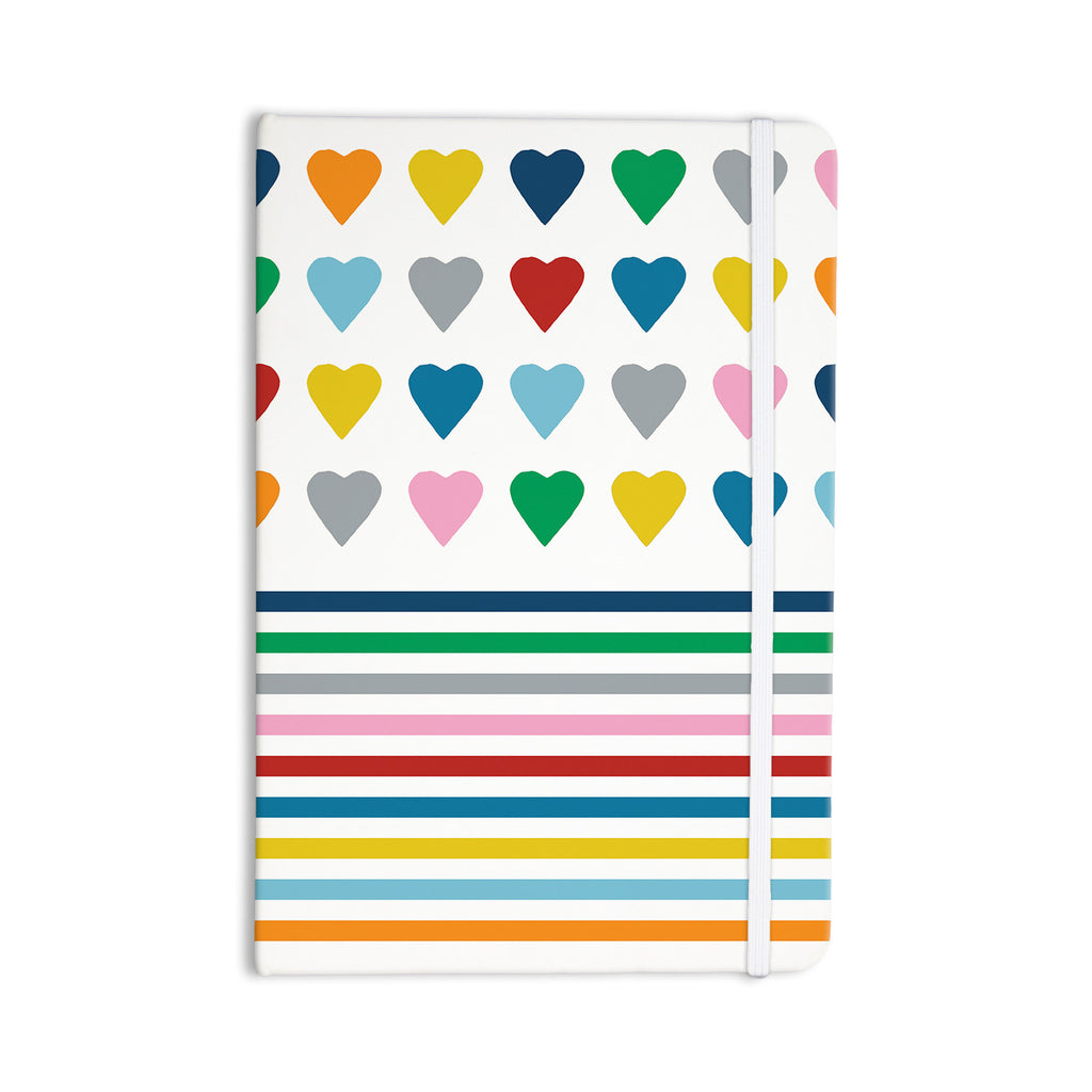 "Project M ""Heart Stripes"" Rainbow Shapes Everything Notebook - KESS InHouse  - 1"