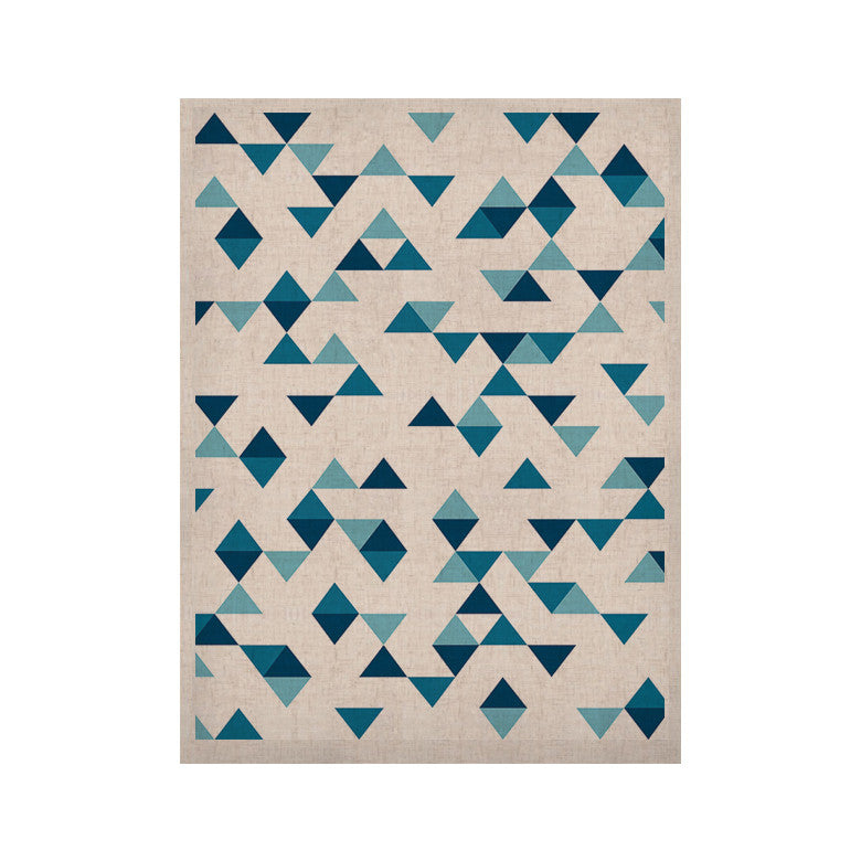 "Project M ""Triangles Blue"" Navy White KESS Naturals Canvas (Frame not Included) - KESS InHouse  - 1"
