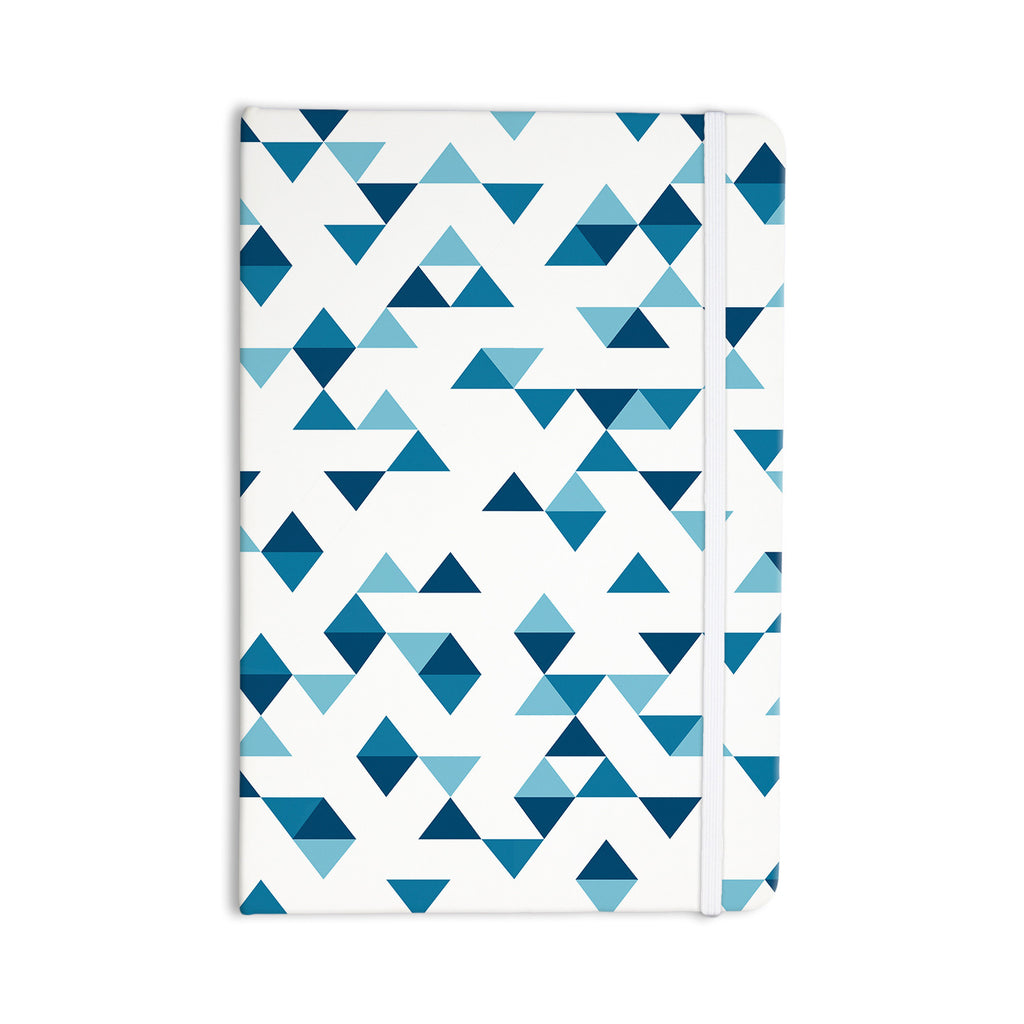 "Project M ""Triangles Blue"" Navy White Everything Notebook - KESS InHouse  - 1"