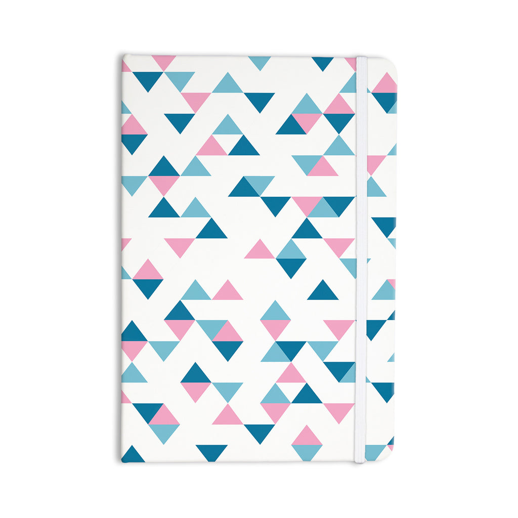 "Project M ""Triangles Pink"" Blush Blue Everything Notebook - KESS InHouse"