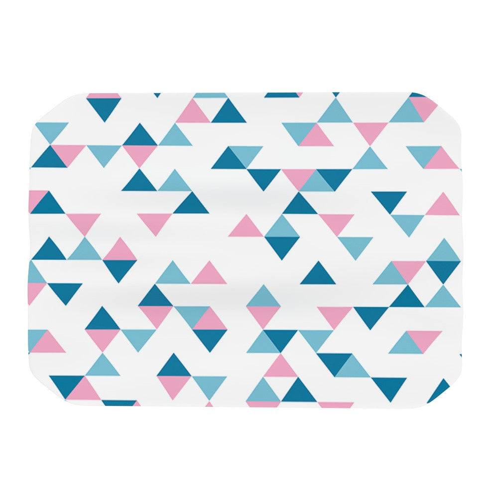 "Project M ""Triangles Pink"" Blush Blue Place Mat - KESS InHouse"