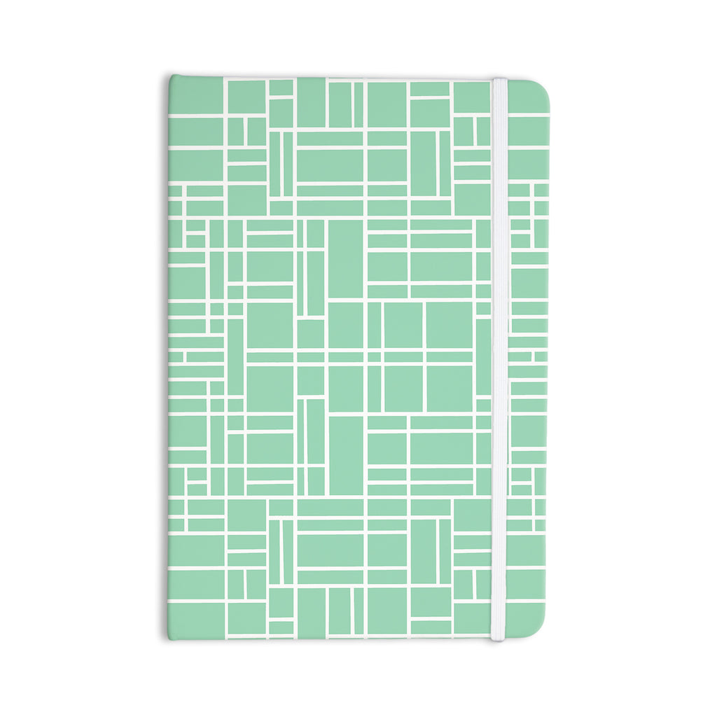 "Project M ""Map Outline Mint"" Geometric Lines Everything Notebook - KESS InHouse"
