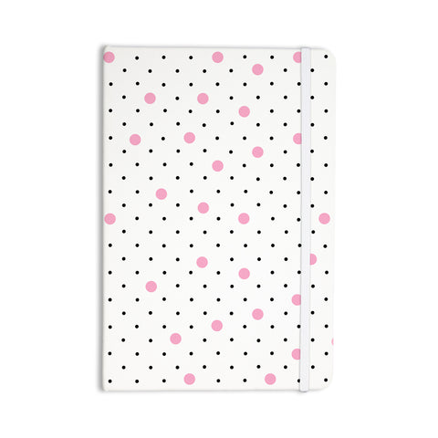 "Project M ""Pin Points Polka Dot Pink"" Pink Black Everything Notebook - Outlet Item"