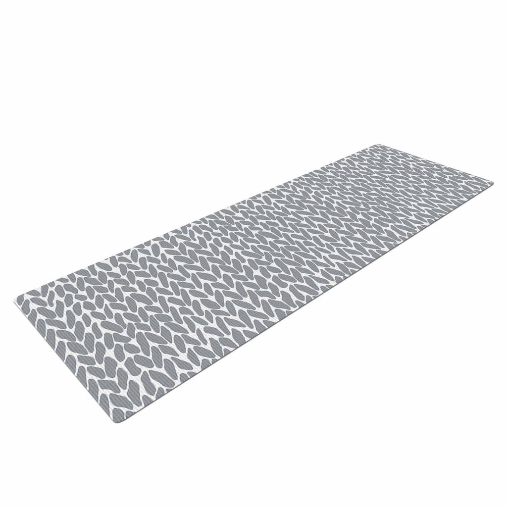 a46f021a9b478 Hand Knit Grey Yoga Mat by Project M