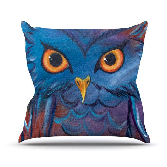 "Padgett Mason ""Hoot"" Throw Pillow - KESS InHouse  - 1"