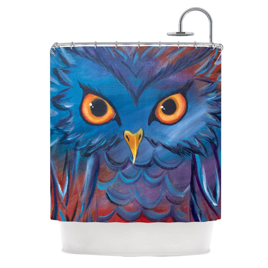 "Padgett Mason ""Hoot"" Shower Curtain - KESS InHouse"