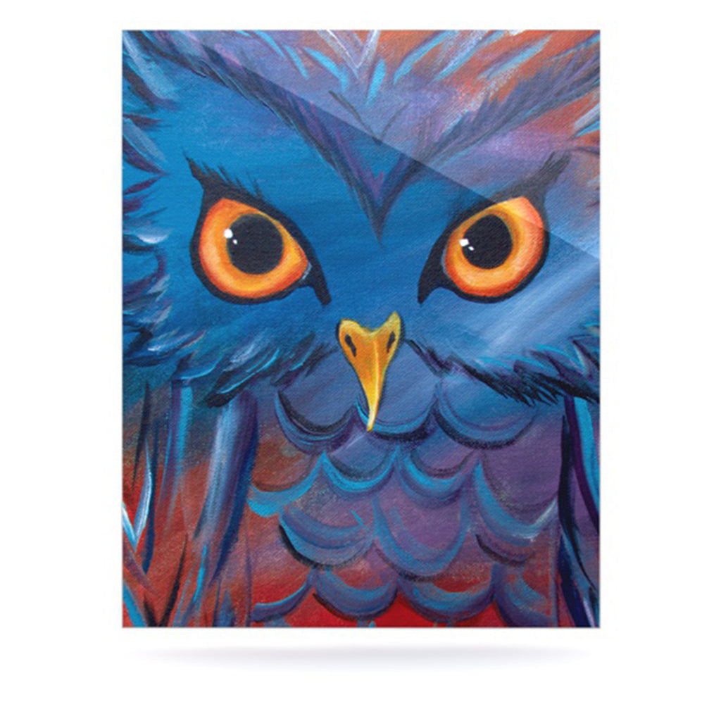 "Padgett Mason ""Hoot"" Luxe Rectangle Panel - KESS InHouse"