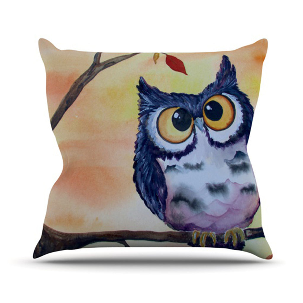 "Padgett Mason ""Hootie Cutie"" Outdoor Throw Pillow - KESS InHouse  - 1"