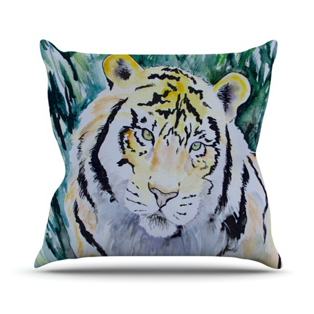 "Padgett Mason ""Tiger"" Outdoor Throw Pillow - KESS InHouse  - 1"