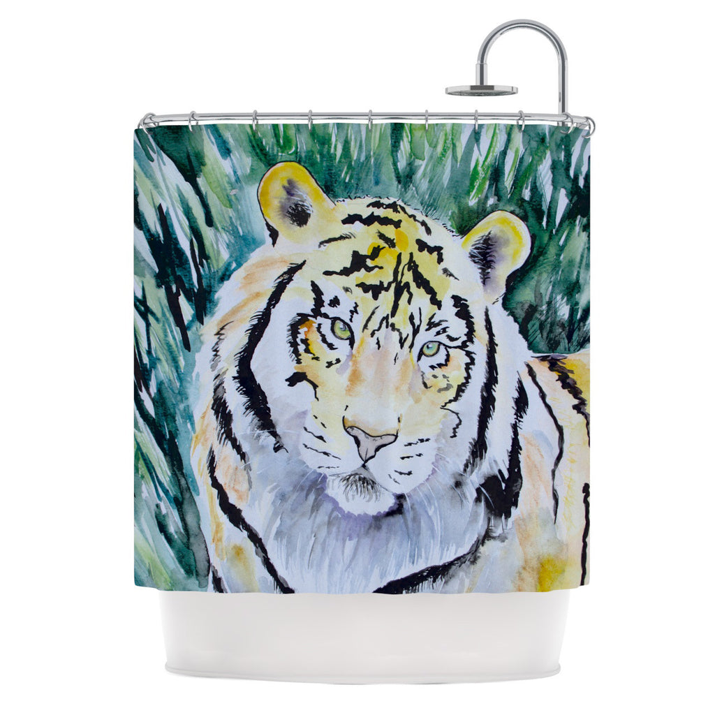 "Padgett Mason ""Tiger"" Shower Curtain - KESS InHouse"