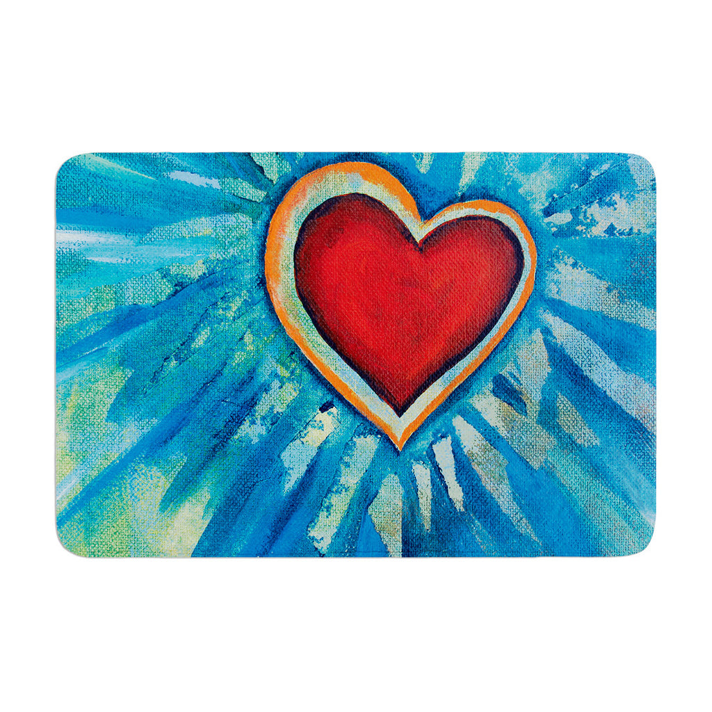 "Padgett Mason ""Love Shines On"" Memory Foam Bath Mat - KESS InHouse"