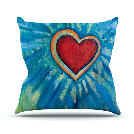"Padgett Mason ""Love Shines On"" Throw Pillow - KESS InHouse  - 1"