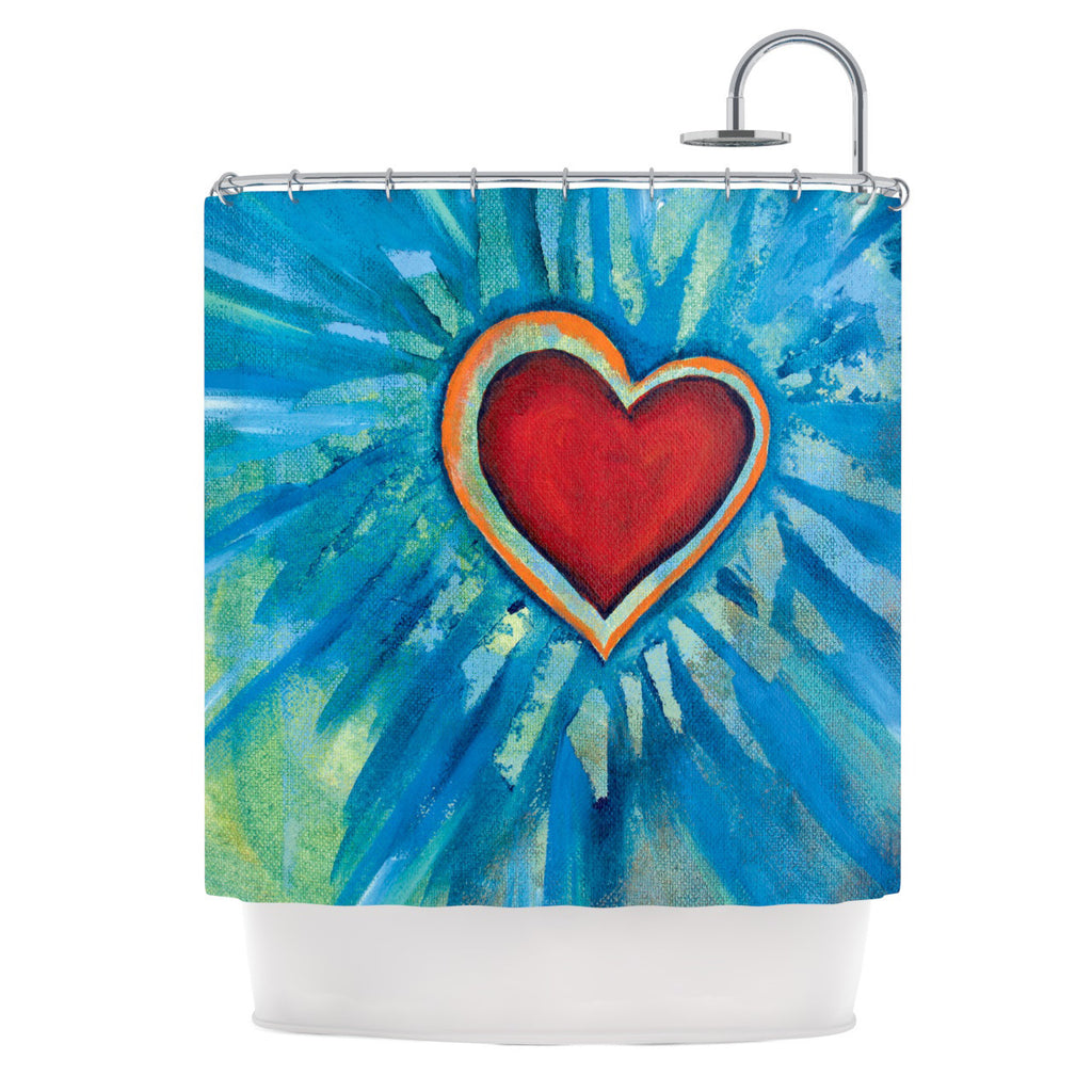 "Padgett Mason ""Love Shines On"" Shower Curtain - KESS InHouse"