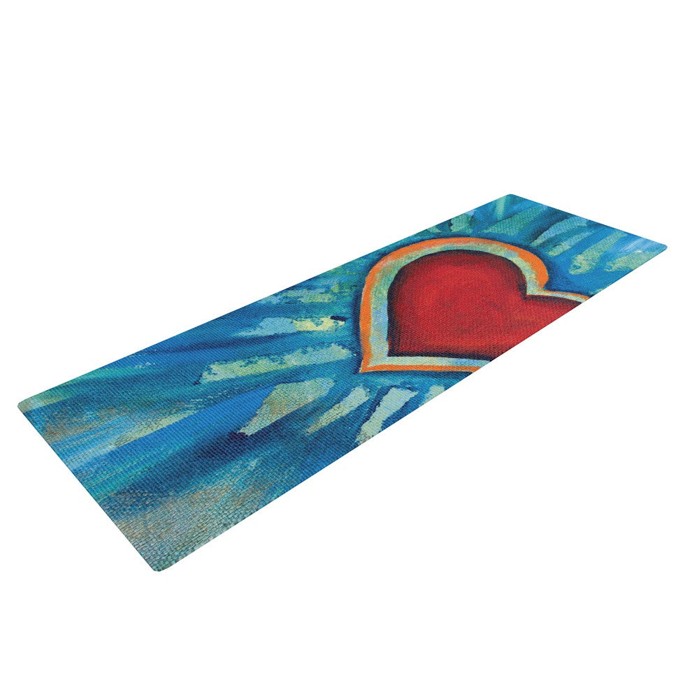 "Padgett Mason ""Love Shines On"" Yoga Mat - KESS InHouse  - 1"