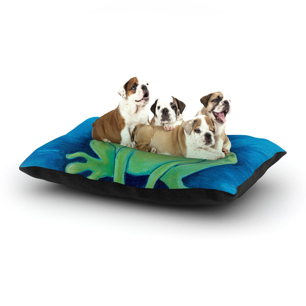 "Padgett Mason ""Ribbit Ribbit"" Dog Bed - KESS InHouse  - 1"