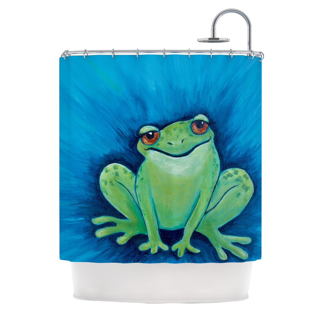 "Padgett Mason ""Ribbit Ribbit"" Shower Curtain - KESS InHouse"