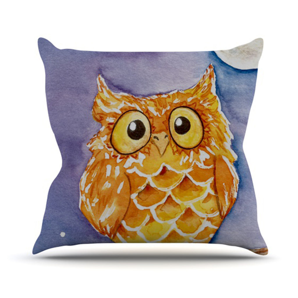 "Padgett Mason ""Little Hoot"" Outdoor Throw Pillow - KESS InHouse  - 1"