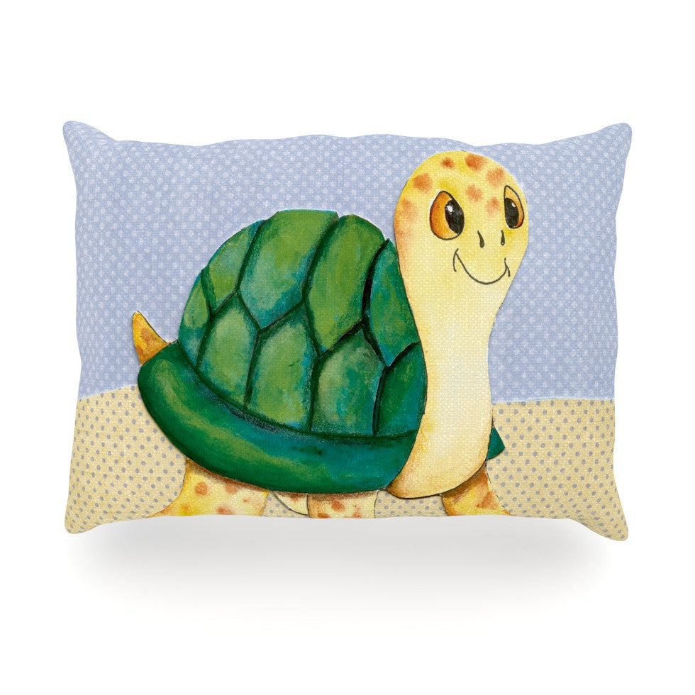 "Padgett Mason ""Slow and Steady"" Oblong Pillow - KESS InHouse"