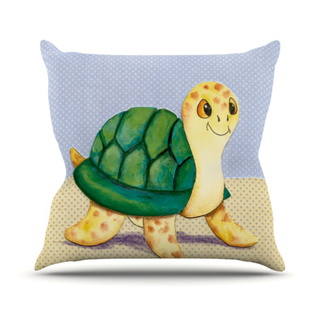 "Padgett Mason ""Slow and Steady"" Outdoor Throw Pillow - KESS InHouse  - 1"