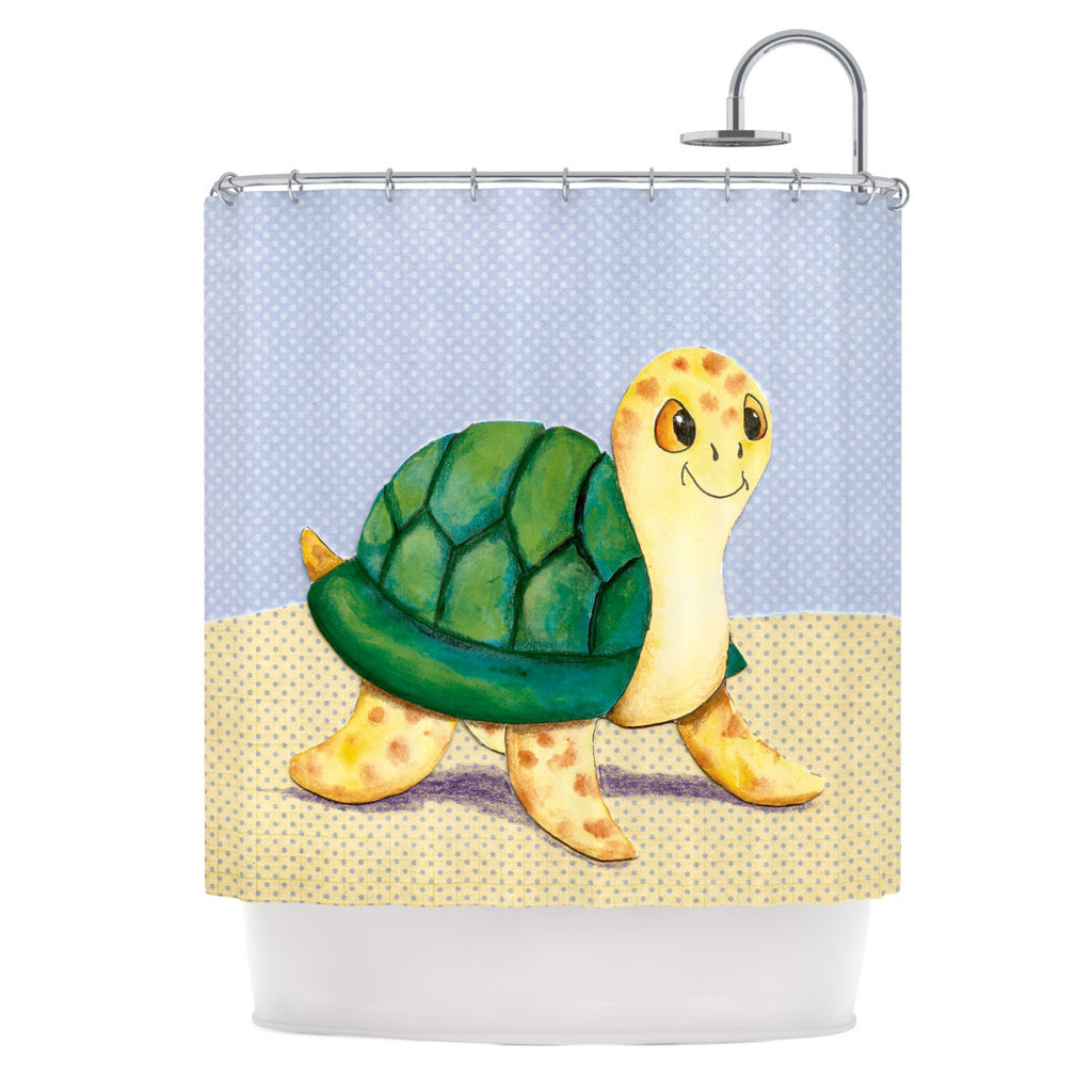 "Padgett Mason ""Slow and Steady"" Shower Curtain - KESS InHouse"