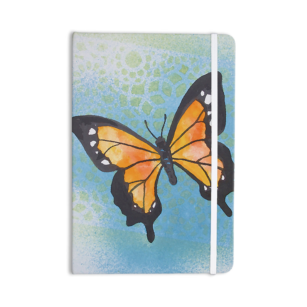 "Padgett Mason ""Summer Flutter"" Blue Orange Everything Notebook - KESS InHouse  - 1"