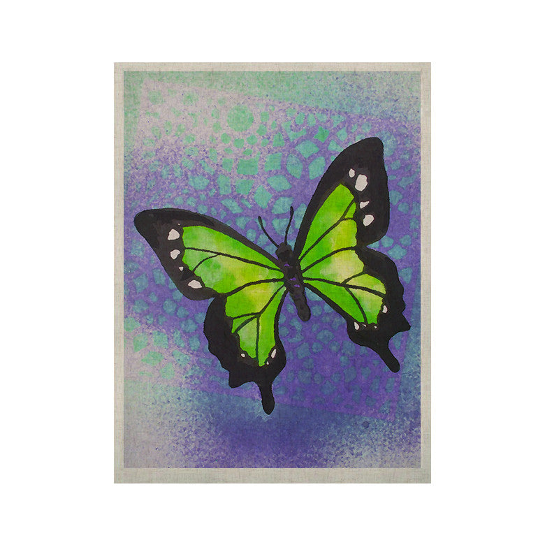 "Padgett Mason ""Lime Green Flutter"" Purple Lavender KESS Naturals Canvas (Frame not Included) - KESS InHouse  - 1"