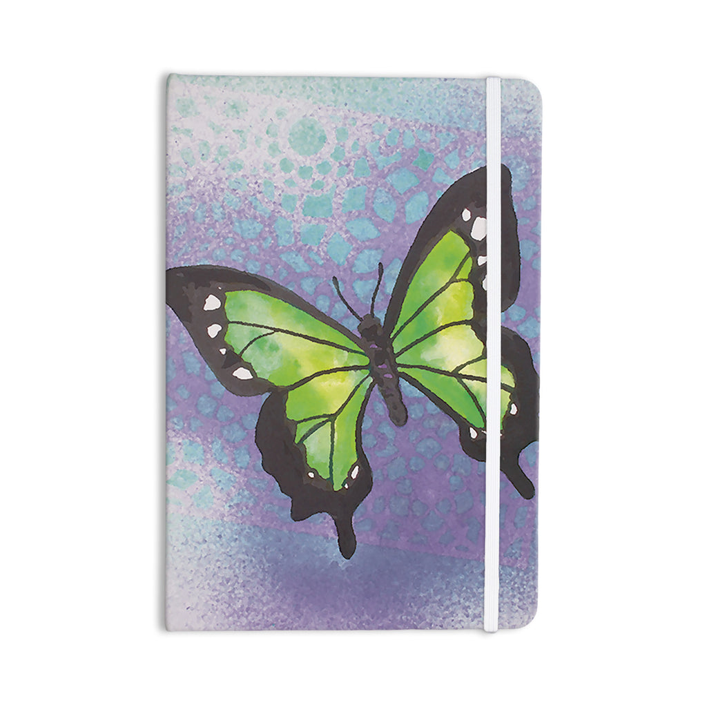 "Padgett Mason ""Lime Green Flutter"" Purple Lavender Everything Notebook - KESS InHouse  - 1"