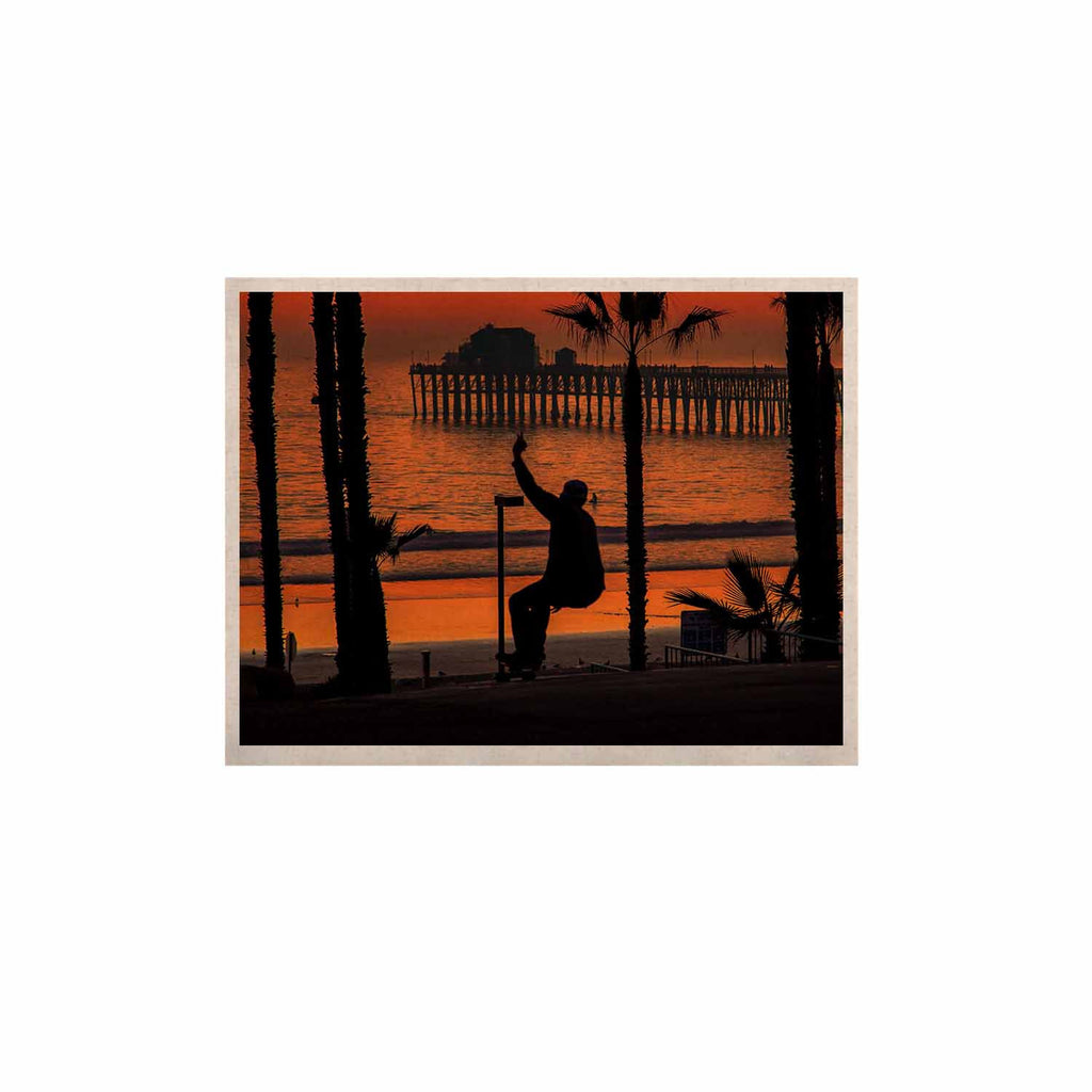 "Juan Paolo ""Endless Summer"" Orange Black KESS Naturals Canvas (Frame not Included) - KESS InHouse  - 1"