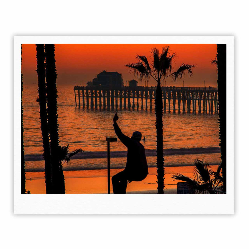 "Juan Paolo ""Endless Summer"" Orange Black Fine Art Gallery Print - KESS InHouse"