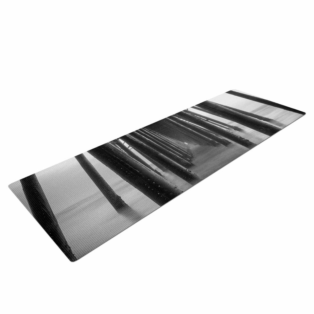 "Juan Paolo ""Vanishing Point"" Coastal Photography Yoga Mat - KESS InHouse  - 1"