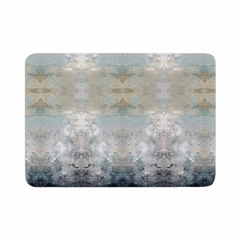 "Pia Schneider ""Heavenly Bird III"" Blue Pattern Memory Foam Bath Mat - Outlet Item"