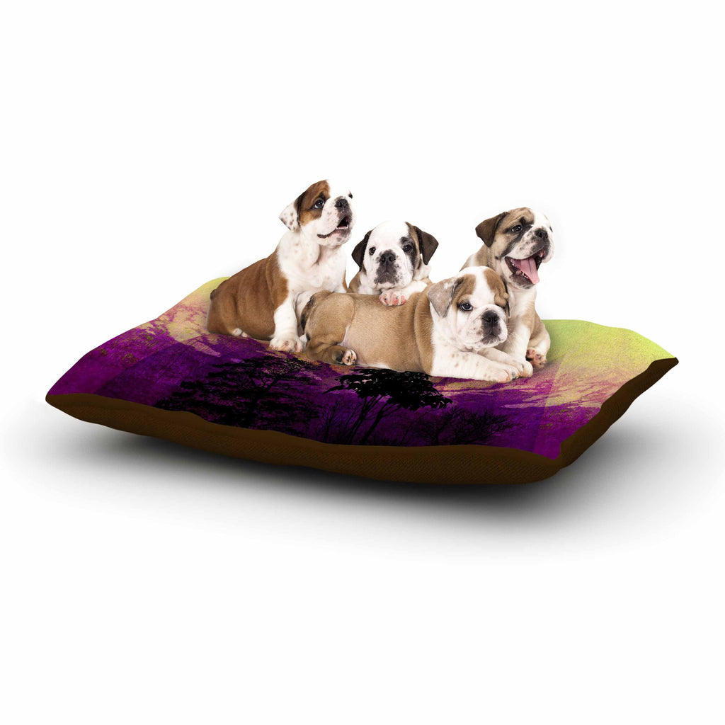 "Pia Schneider ""Trees Under Magic Mountain"" Yellow,Nature Dog Bed - KESS InHouse  - 1"