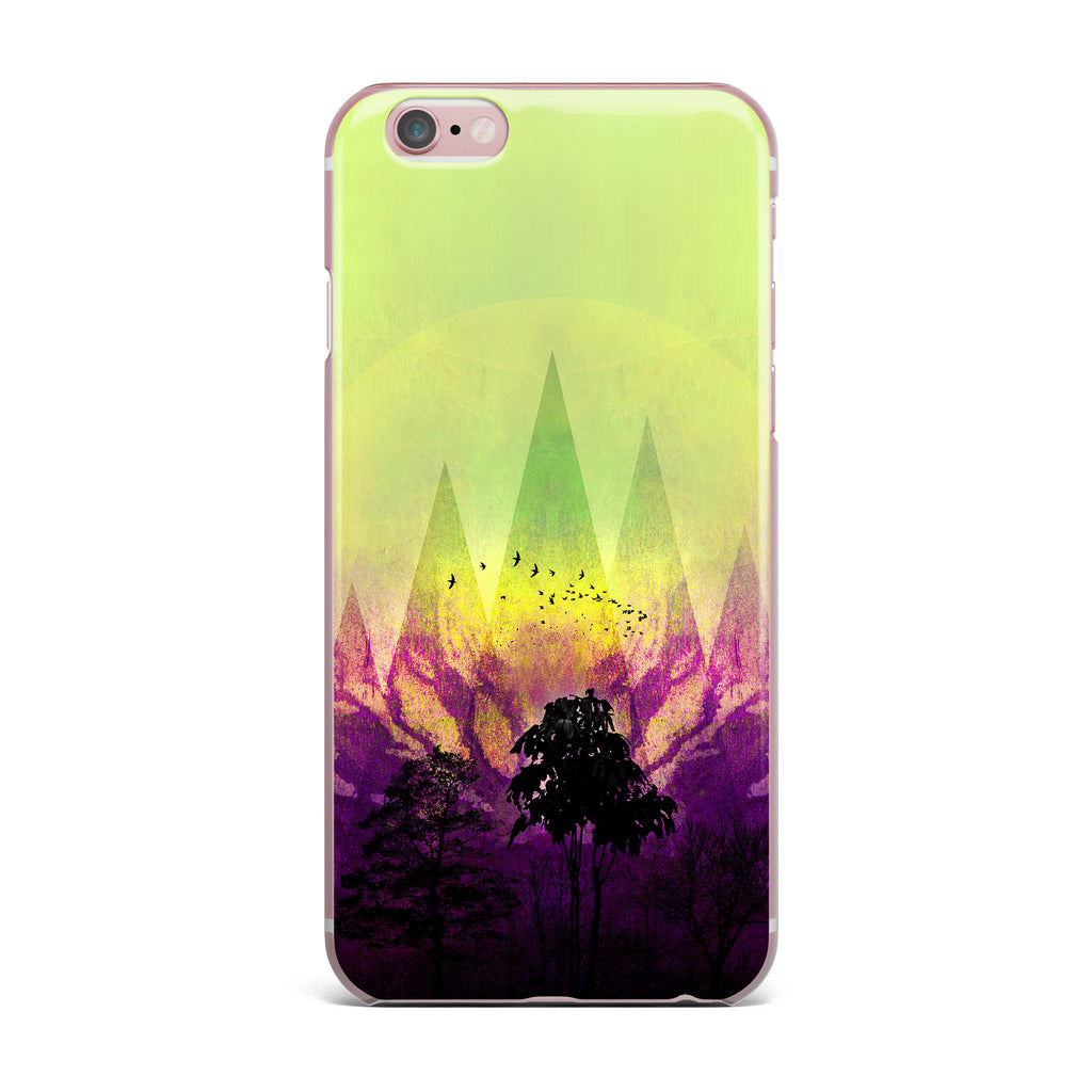"Pia Schneider ""Trees Under Magic Mountain"" Yellow,Nature iPhone Case - KESS InHouse"
