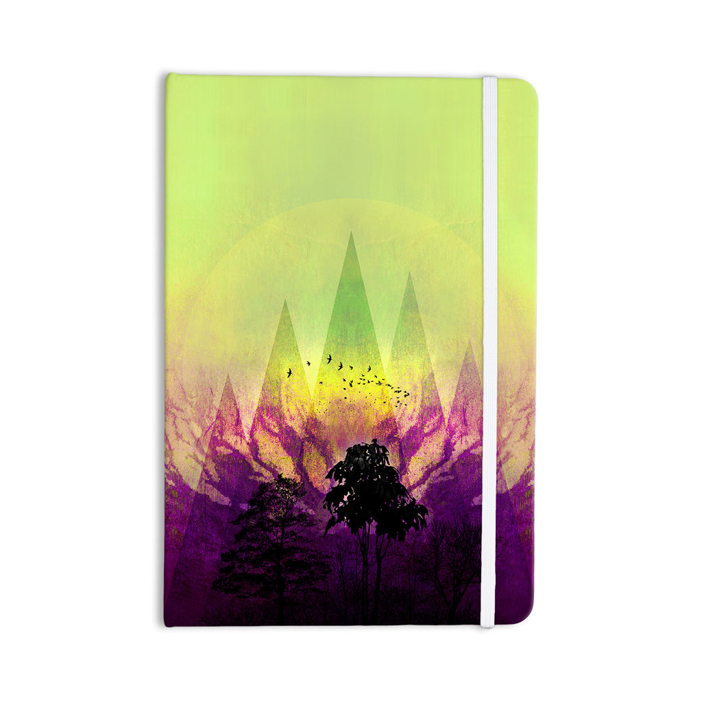 "Pia Schneider ""Trees Under Magic Mountain"" Yellow,Nature Everything Notebook - KESS InHouse  - 1"
