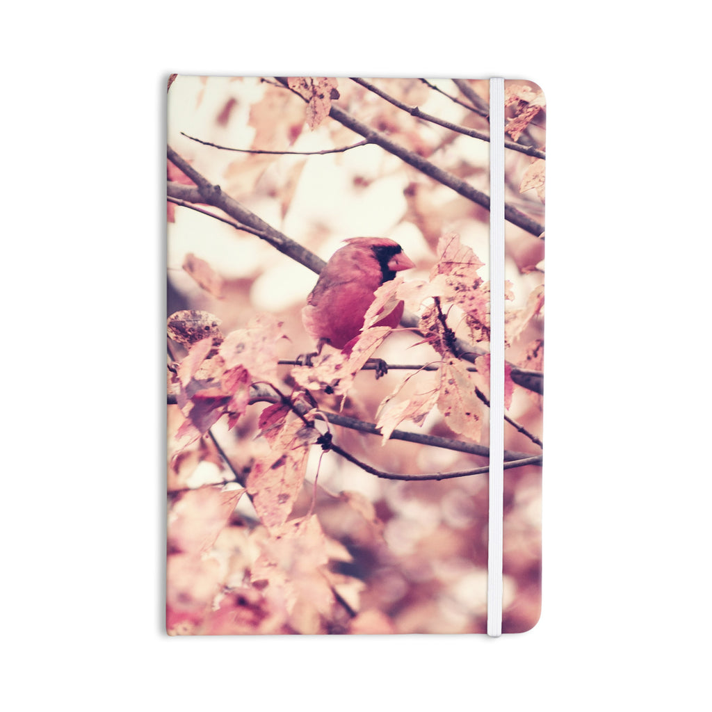 "Qing Ji ""Angry Bird in Fall Leaves"" Orange Nature Everything Notebook - KESS InHouse  - 1"