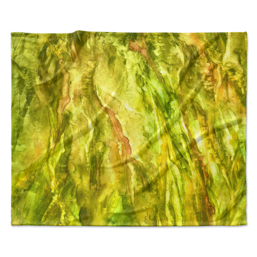 "Rosie Brown ""Tropical Delight"" Fleece Throw Blanket"