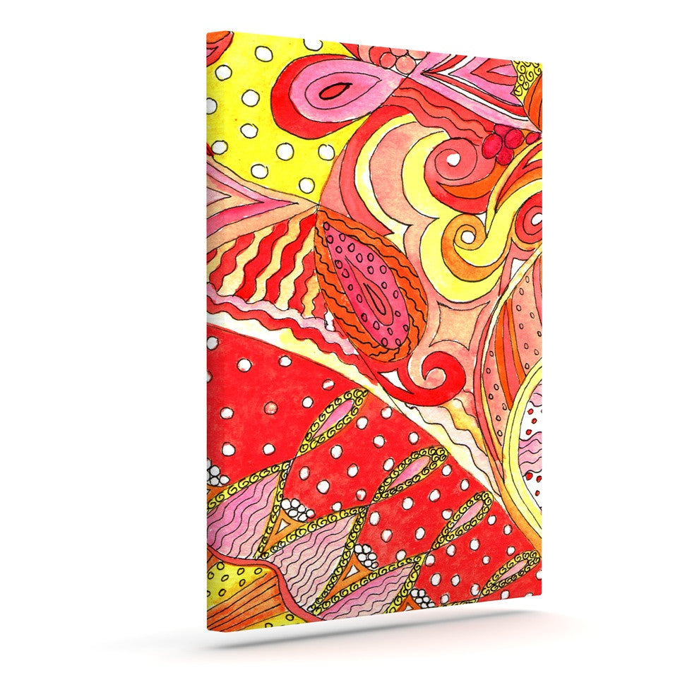 "Rosie Brown ""Swirls"" Outdoor Canvas Wall Art - KESS InHouse  - 1"