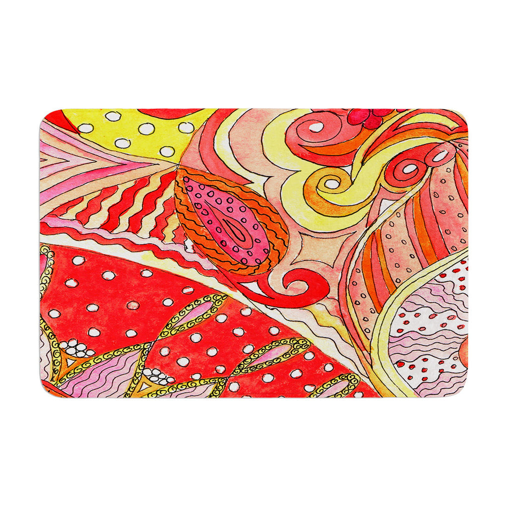 "Rosie Brown ""Swirls"" Memory Foam Bath Mat - KESS InHouse"