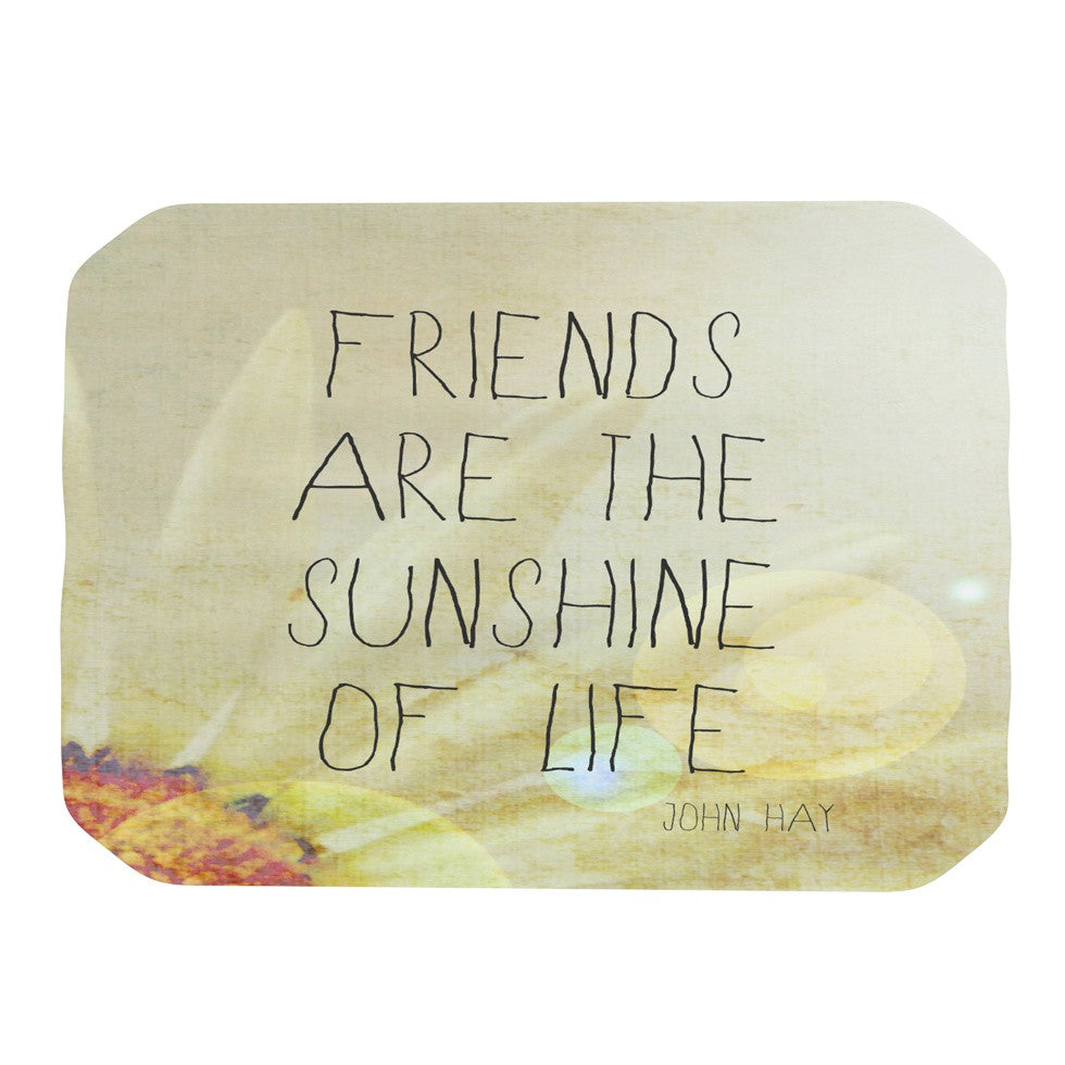 "Rachel Burbee ""Friends & Sunshine"" Place Mat - KESS InHouse"