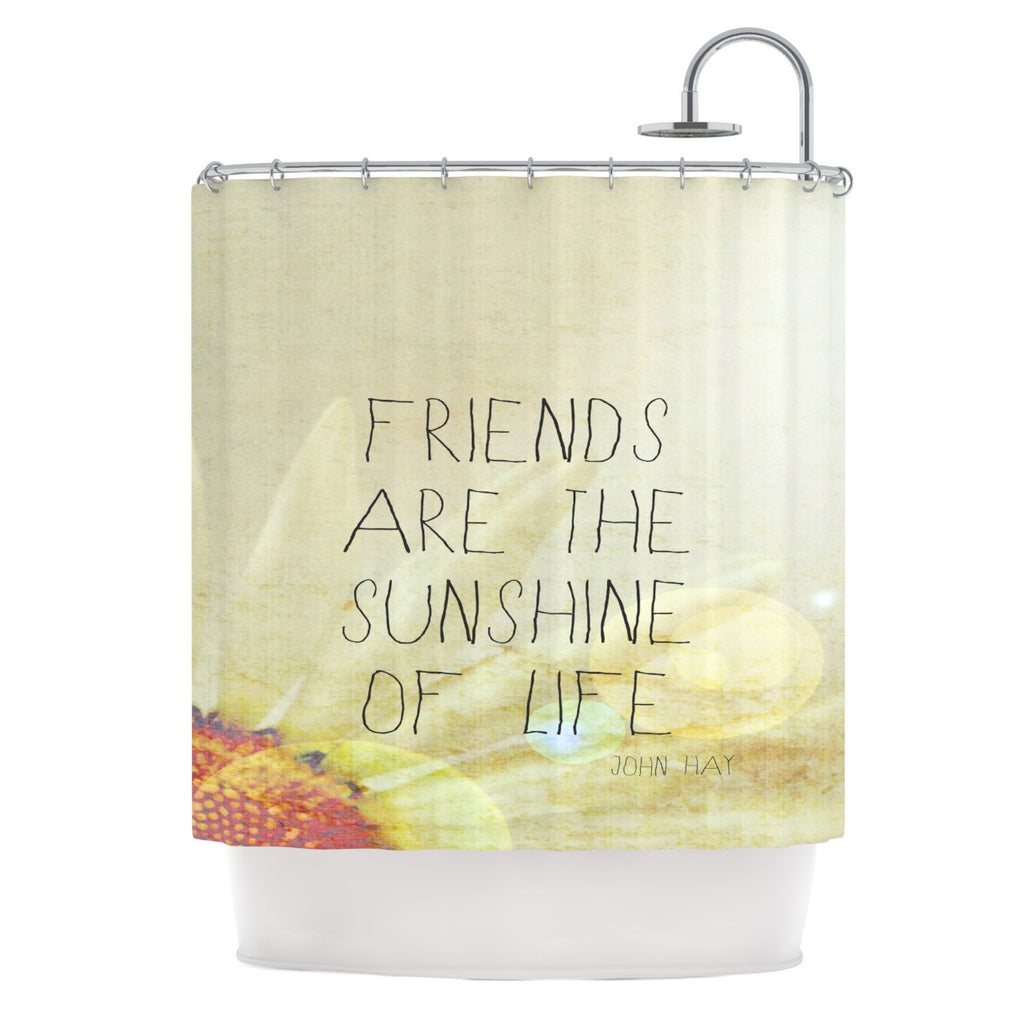 "Rachel Burbee ""Friends & Sunshine"" Shower Curtain - KESS InHouse"
