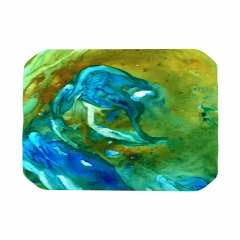 "Rosie Brown ""Hurricane"" Green Blue Place Mat - Outlet Item"