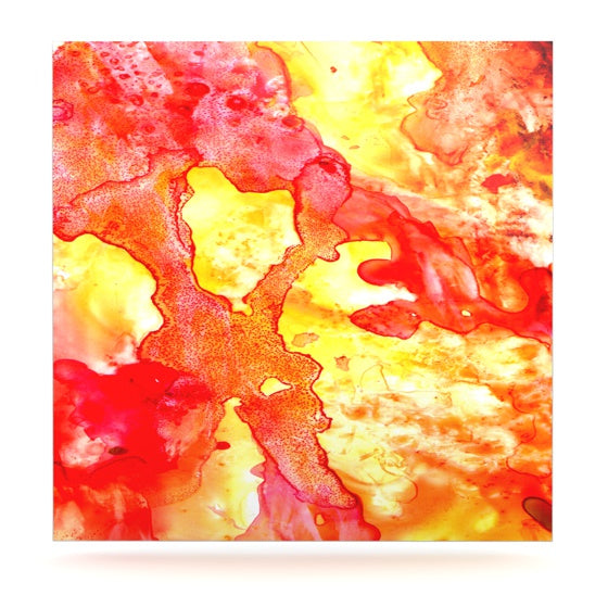 "Rosie Brown ""Hot Hot Hot"" Luxe Square Panel - KESS InHouse  - 1"