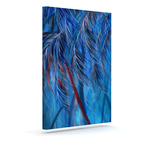 "Rosie Brown ""Red White Tropical"" Outdoor Canvas Wall Art - KESS InHouse  - 1"