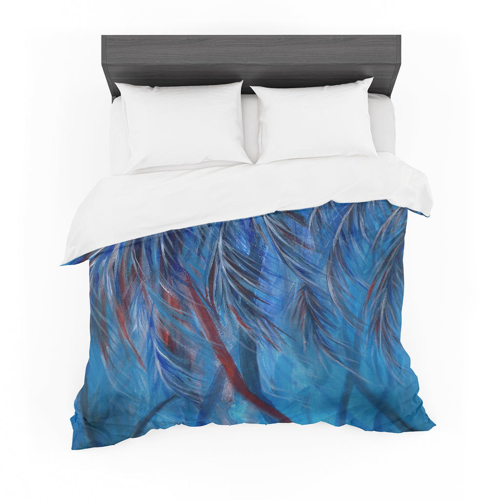 "Rosie Brown ""Red White Tropical"" Cotton Duvet"