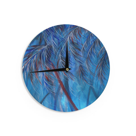 "Rosie Brown ""Red White Tropical"" Wall Clock - KESS InHouse"